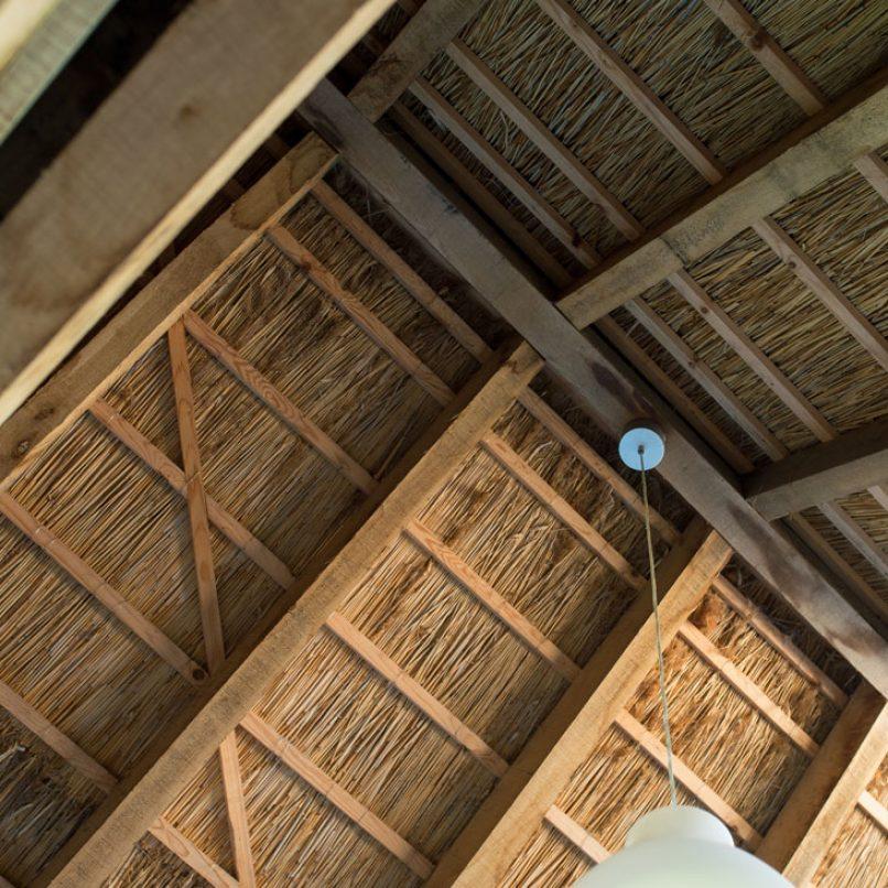 Overkapping aan huis hout