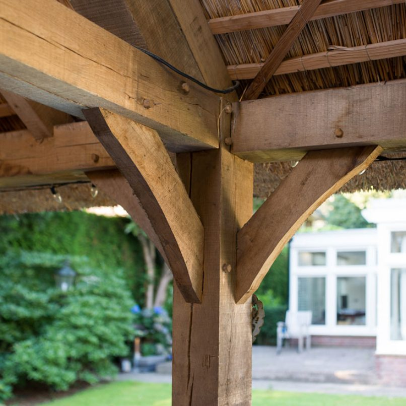 Overkapping tuin hout
